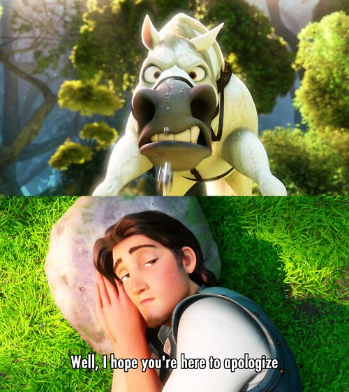 """Well, I hope you're here to apologize"" ~ Tangled (2010) ~ Movie Quotes #amusementphile"