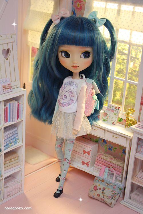 Nerea Pozo Art: Ooak custom pullip doll LAN AZURE ♥