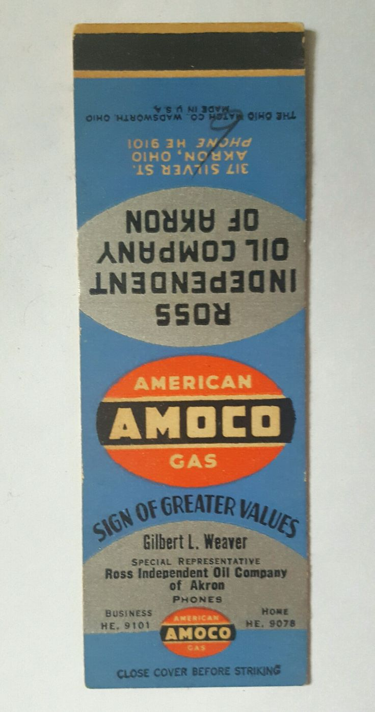 AMOCO - American Gas - matchbook cover