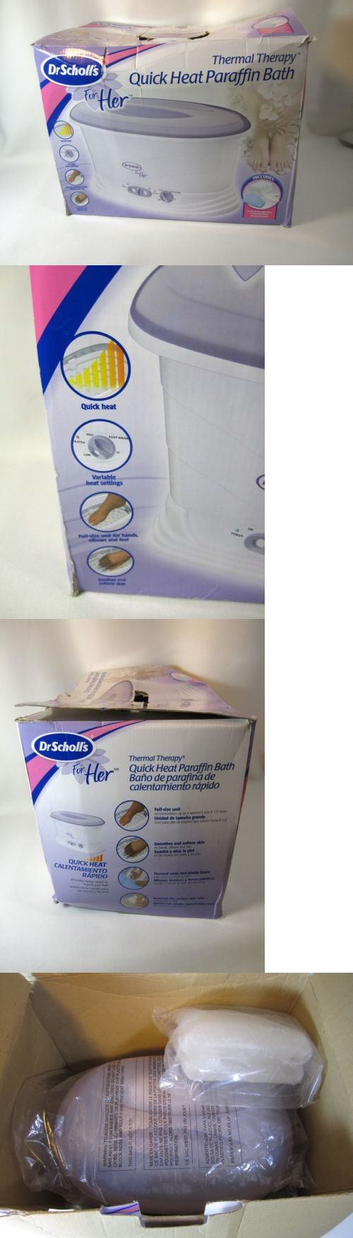 Spas Baths and Supplies: Nib Dr. Scholls For Her Thermal Therapy Quick Heat Paraffin Bath Wax Spa Hand BUY IT NOW ONLY: $40.0
