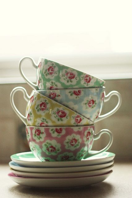 Cath Kidston teacups...I kinda want these!