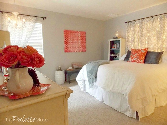 "I'm often asked ""How did you make that lit headboard in your Budget Bedroom Makeover?"" So today, I'm spilling all my insider secrets with a full tutorial."