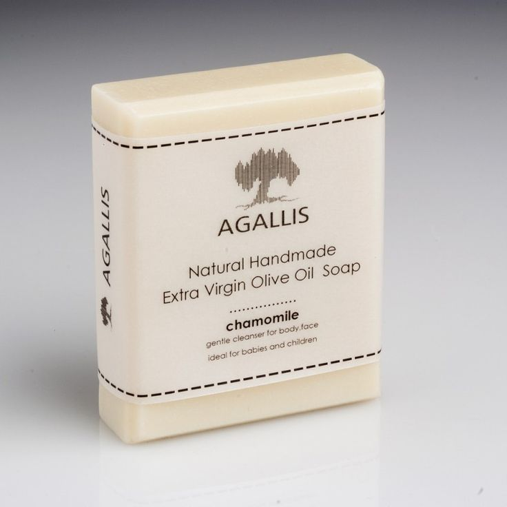 """Agallis"",  Extra Virgin Olive Oil Soap, Chamomile at Wholesale price  It is a chamomile soap with excellent cleaning ability. Chamomile is known for its antioxidant and ant-inflammatory action, properties that make this soap ideal for healing wounds in the body."