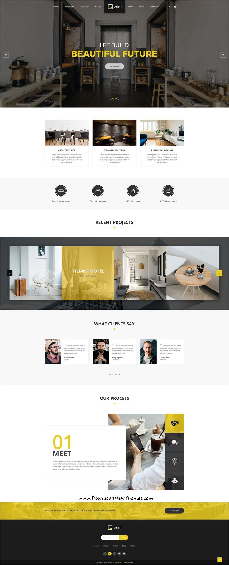 Arch Decor Is Clean And Modern Design Psd Template For Interior