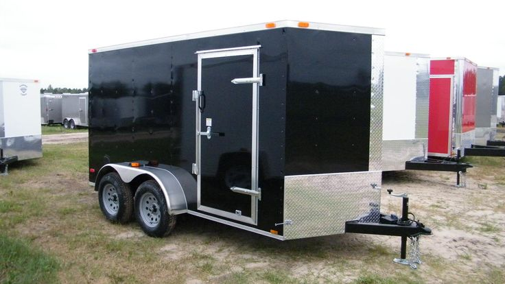 Cargo Trailers 6x12 & 6x14 : 6x12 cargo trailer. Why buy a used utility trailer when you can keep your tools in our covered box trailer for less | USA Cargo Trailer Sales