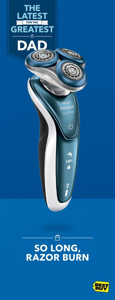 If Dear Old Dad's sensitive side resides between his collar and the brim of his hat, the Philips Norelco 7500 is the electric shaver for him. Its GentlePrecisionPRO blade system is designed to deliver a close shave while protecting sensitive skin — in or out of the shower. Find touching Father's Day gifts like this and more at Best Buy.