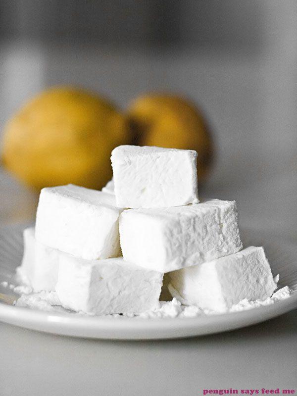 lemon sherbet marshmallows • penguin says feed me