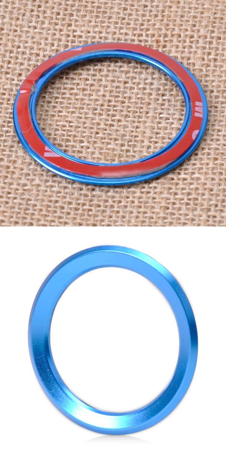beler Blue Car Steering Wheel Center Ring Cover Trim For BMW 1 3 4 5 7 Series M3 GT5 X1 X3 X5 X6  E38 F01 F25 E70 2013 2014 2015