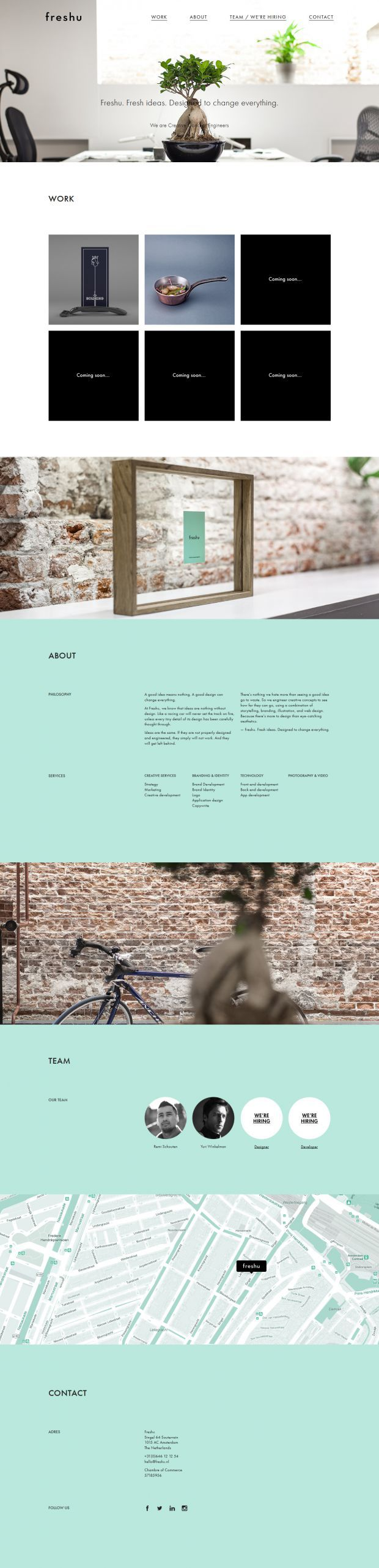 Full Service Creative Agency in Amsterdam - Freshu #webdesign #it #design #layout #userinterface #ui #ux