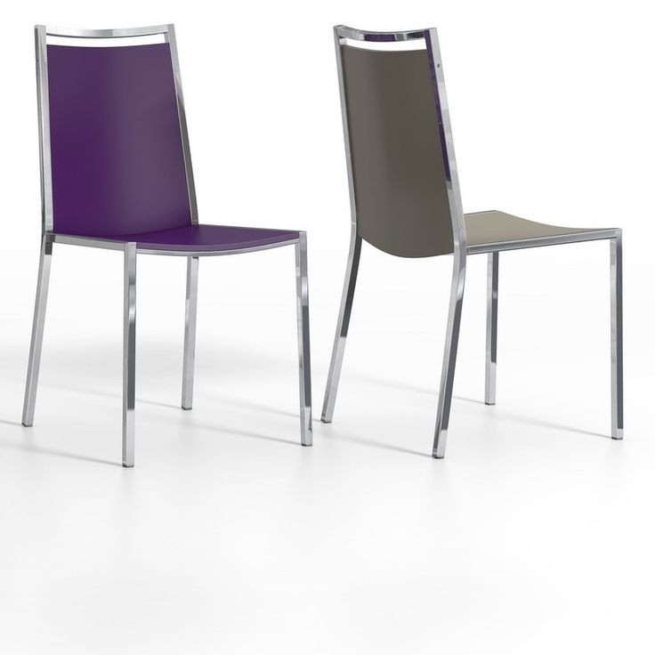 Concept chair. Lacquered seat and metal frame. Available in a variety of colours.