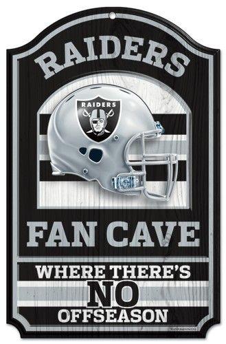 Oakland Raiders Wood Sign – 11″x17″ Fan Cave Design – ResellerHub.store