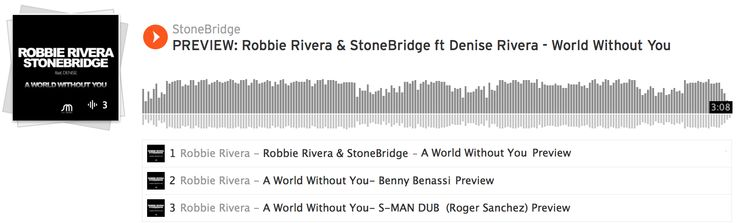 Thank you Deniz Koyu & Firebeatz for the mix show drops of Robbie Rivera & StoneBridge ft Denise Rivera - A World Without You! Check the Original/Benny Benassi/S-Man mixes here: http://smarturl.it/WorldWithoutYouSC #robbierivera #stonebridge #deniserivera #bennybenassi #rogersanchez #juicymusic