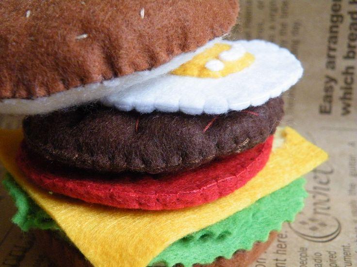 フェルト ハンバーガーの作り方|フェルト|編み物・手芸・ソーイング|ハンドメイドカテゴリ|アトリエ
