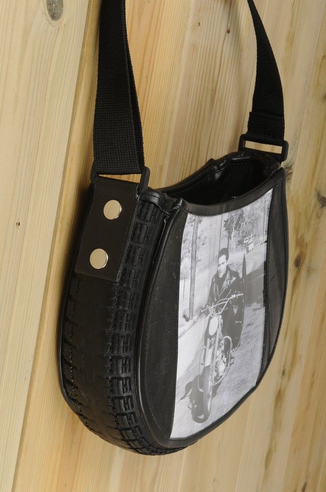 Scooter-tire cross body bag