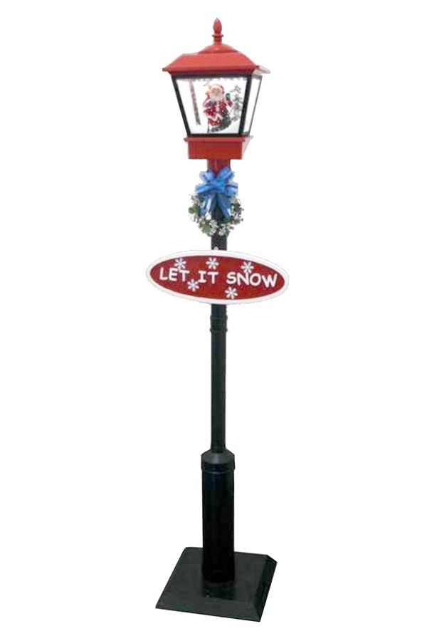 "VERTICAL SNOWING STREETLAMP 11.81X11.81X70.87"" This is one of our best selling items! They are perfect for indoor or outdoor use, plays Christmas music, and ""snows"" inside the lantern! ITEM: 56387. Available in various colors, visit the link to see all the different designs!"