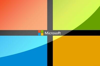 Microsoft logo inside logo