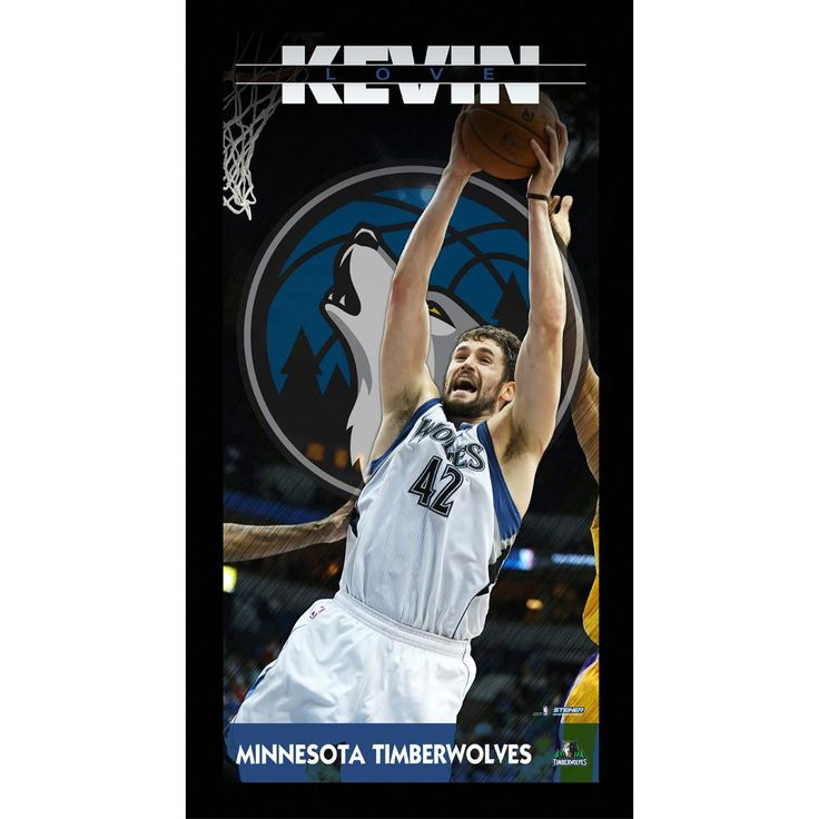 Kevin Love Minnesota Timberwolves Player Profile Wall Art 9.5x19 Framed Photo