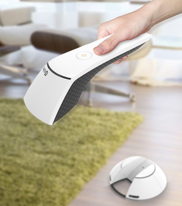 Handy VA is a robotic hand held vacuum cleaner, it reminds us of Nanophea robotic vacuum by Zaier Jihed.