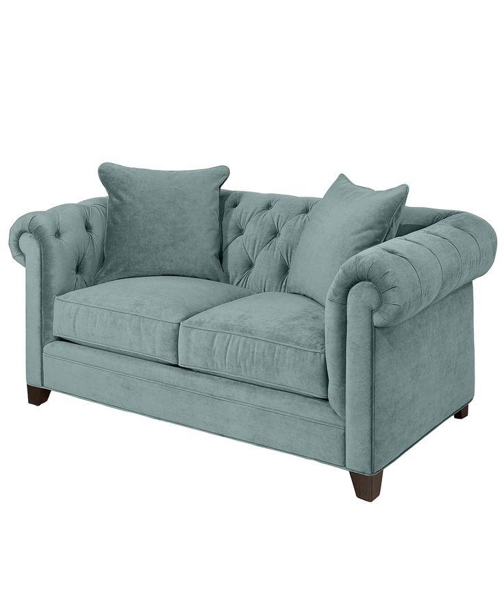 Martha Stewart Collection Saybridge Fabric Loveseat: Custom Colors - Small Space Furniture - Furniture - Macy's