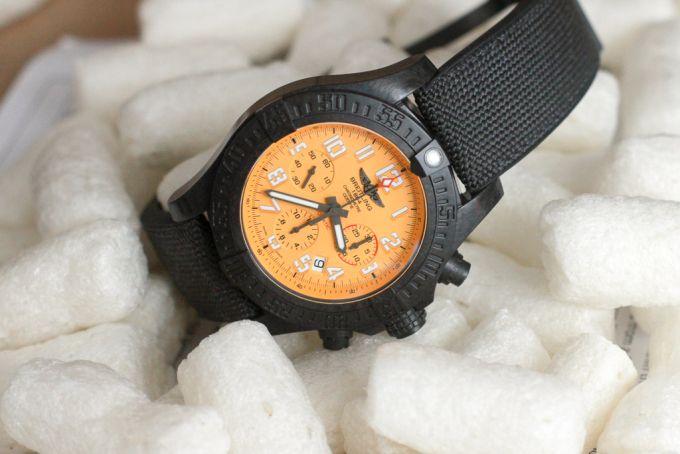 Breitlings Avenger Hurricane 45 watch uses dense composites to stay light
