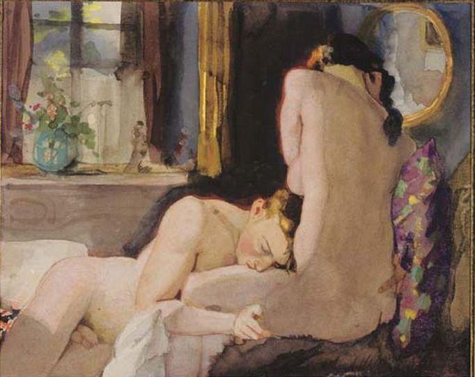 Lovers (1933) by Konstantin Somov