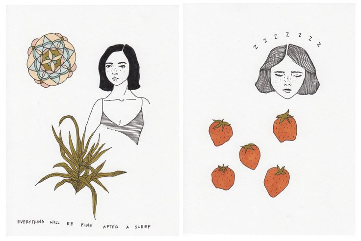 Mali Fischer — Made some little mini drawings of girls with...