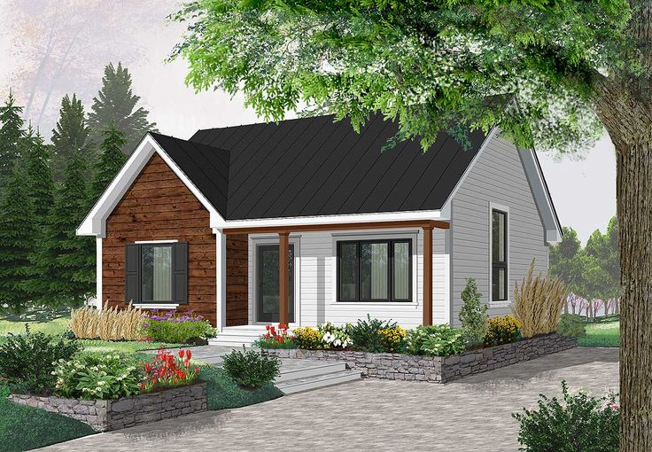 Compact Country Bungalow - 2112DR | 1st Floor Master Suite, Butler Walk-in Pantry, CAD Available, Canadian, Cottage, Country, Metric, PDF, Photo Gallery, Vacation | Architectural Designs