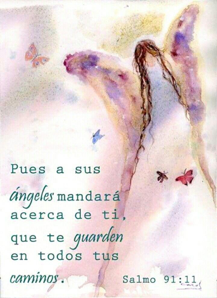 Salmo 91 11 Arte De Angel Angeles Y Hadas Cuadro Acuarela