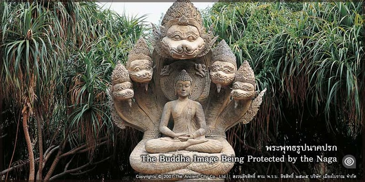 Image Of Buddha Being Protected By Seven Headed Naga