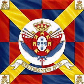 Bandiera di guerra del 19 rgt. portoghese