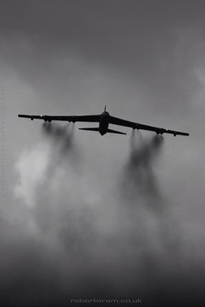 B-52 climbing out.