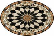 Venetian Oval tile floor medallion picture