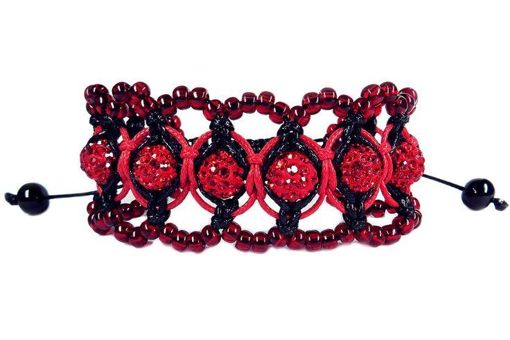 "DIY ❤: Macrame bracelet ""Shambala"" with beads / Ажурный макраме браслет ""Шамбала"" с бисером"