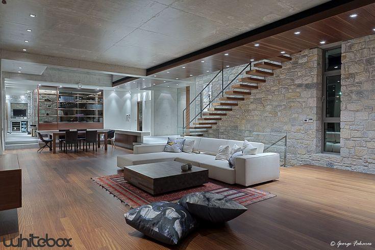 Stone House in Anavissos  Living room