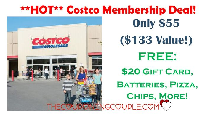 **HOT** Costco Membership Deal! Only $55 for $133 Value! Get a free Costco card, pizza, batteries, chips and more with a new membership!  Click the link below to get all of the details ► http://www.thecouponingcouple.com/hot-costco-membership-deal-only-55-for-133-value/ #Coupons #Couponing #CouponCommunity  Visit us at http://www.thecouponingcouple.com for more great posts!