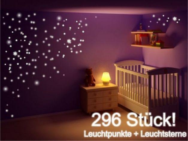 Marvelous Leuchtsticker Wandtattoo Sterne Punkte teilig