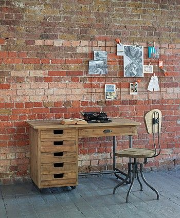 Baxter Industrial Desk with Drawers