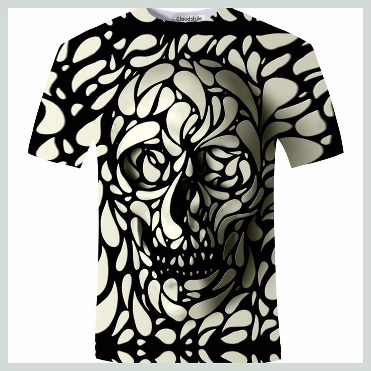 New Design Skull 3d Print Men tshirt Fashion 3D Skull T-Shirt Summer Short Sleeve Casual Breathable Tops Tee Plus Size 5XL Homme
