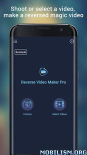 Reverse Video Maker Pro v1.0.3Requirements: 4.3Overview: A program makes video play in reverse thus allows you to create magic films.  Reverse Video Maker is a video editing app, which enables you to capture new video or select existing one from your...