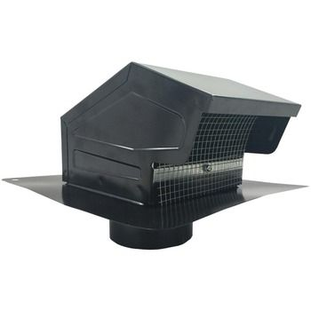 "BUILDERS BEST 012635 Black Metal Roof Vent Cap (4"""""""" Collar)"