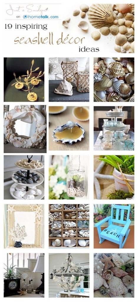 Love collecting seashells in the summer? Try these 19 inspiring decor projects!