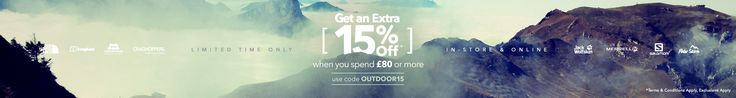 Use Blacks voucher code OUTDOOR15 for 15% off £80+ spend. Use on camping, boots and hiking clothing. Expires midnight 10th July 2017