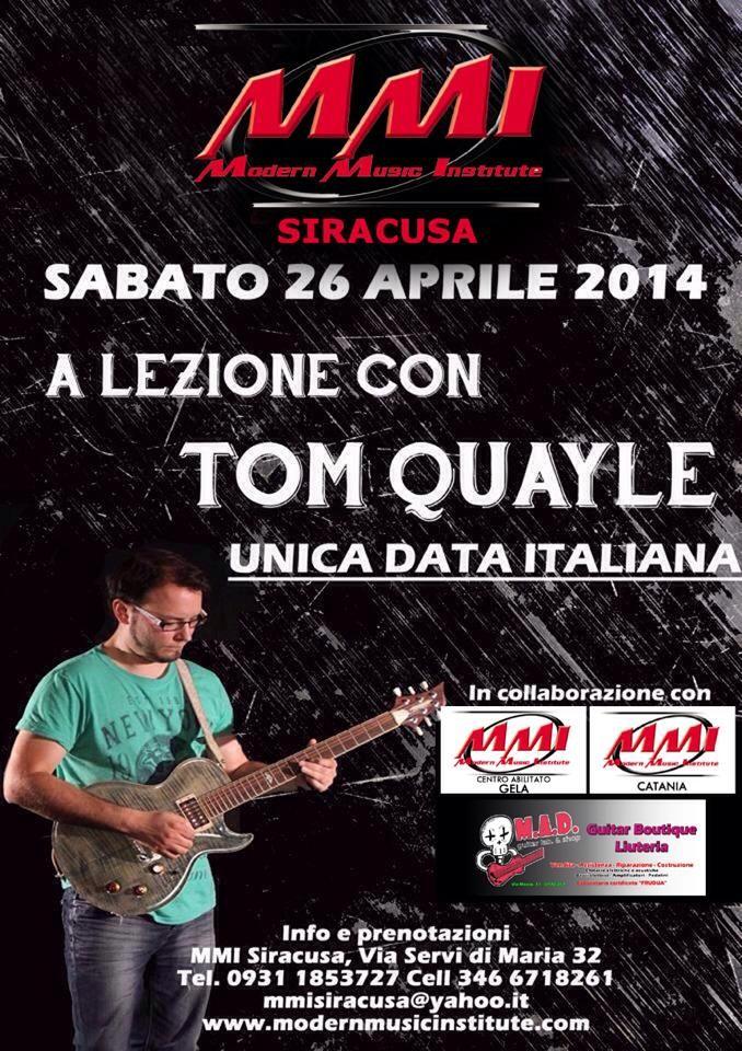 Tom Quayle Guitar Clinic 26/04/2014   MusicOff
