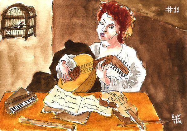 Desafio Caravaggio: #11 O Tocador de Alaúde -------------- Caravaggio quest: #11 The Lute Player