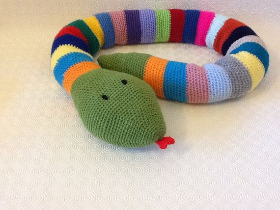 NEW  Colourful Amigurumi Snake by EvalestAmigurumi on Etsy