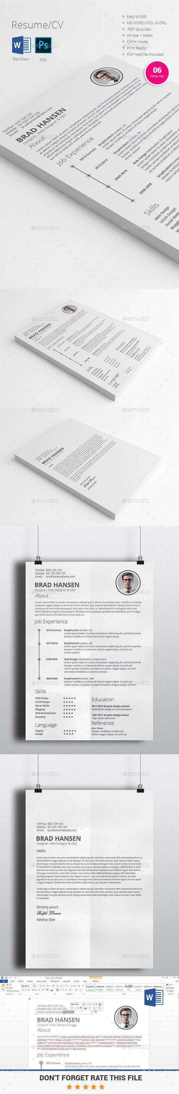 13 Best Cv Resume Images On Pinterest