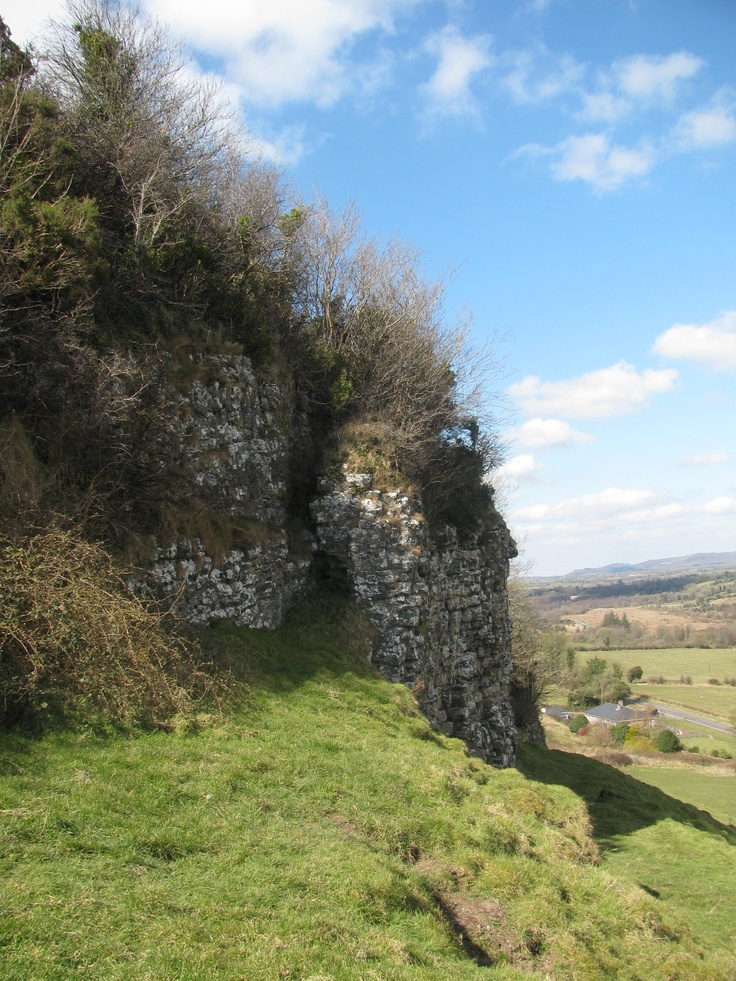 Limestone outcrop above Fore