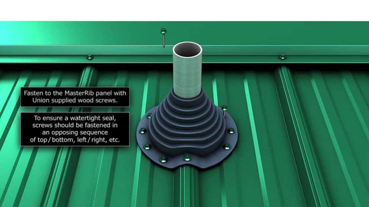 How to install a metal roof pipe boot.