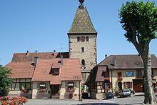 Bergheim (Alsace) er en anden skøn lille by, hvor man også skal tage sig en spadsertur på volden bag husene