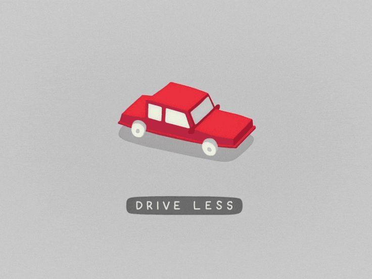 Drive less walk more 01